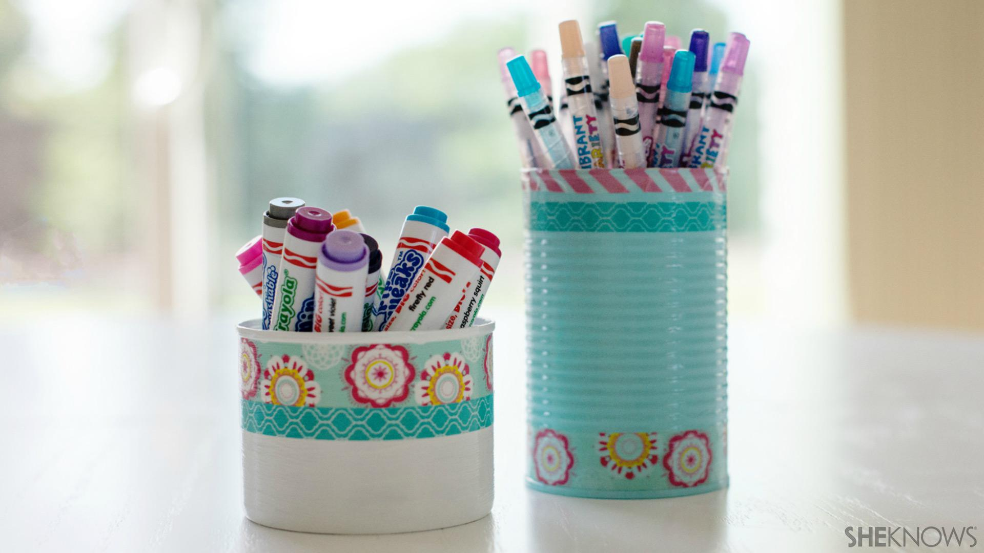 Homemade Pencil Holders Cute Diy Pencil Holders Help Tame School Clutter Sheknows