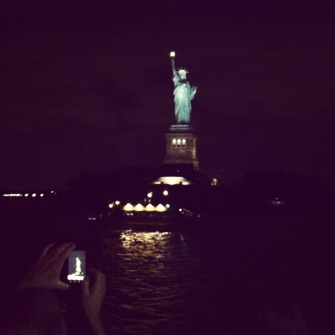 statue of liberty at night instagram
