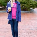 Pink and Navy Winter Outfit