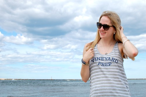 Nautical Striped Tank