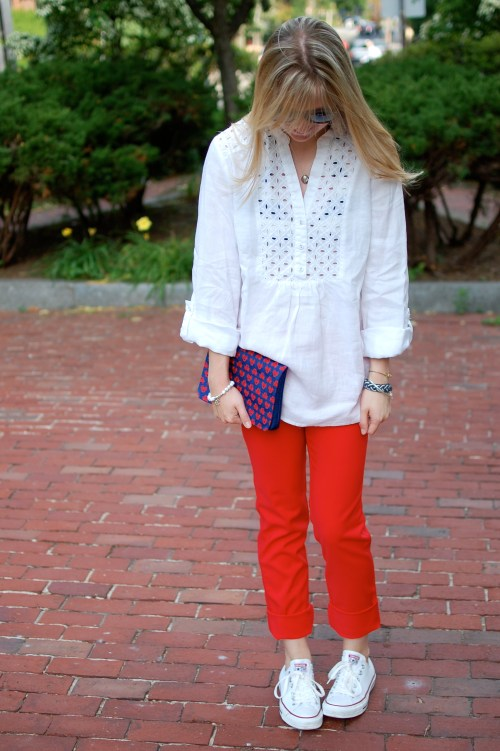 Red Skinny Jeans Summer