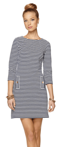 Lilly Pulitzer Striped Navy Dress