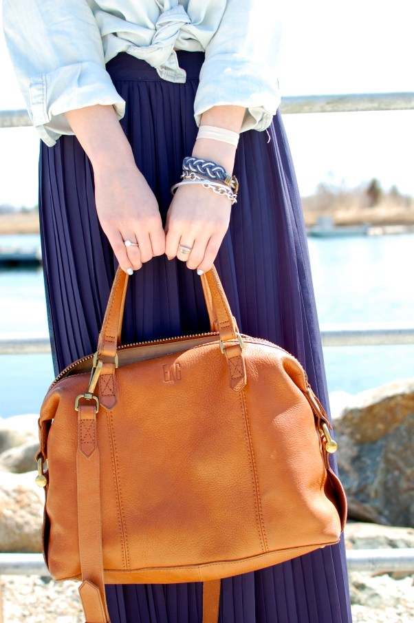 Monogrammed Leather Bag