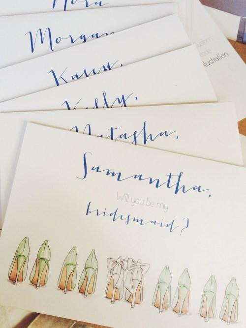 HN Illustration Custom Bridesmaid Cards