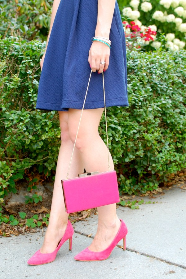 Pink Gold Kate Spade Clutch