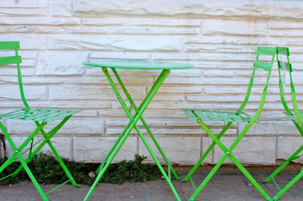 green patio furniture