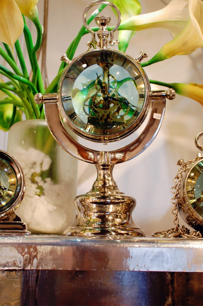 Freedman's of Nantucket Brass Clocks