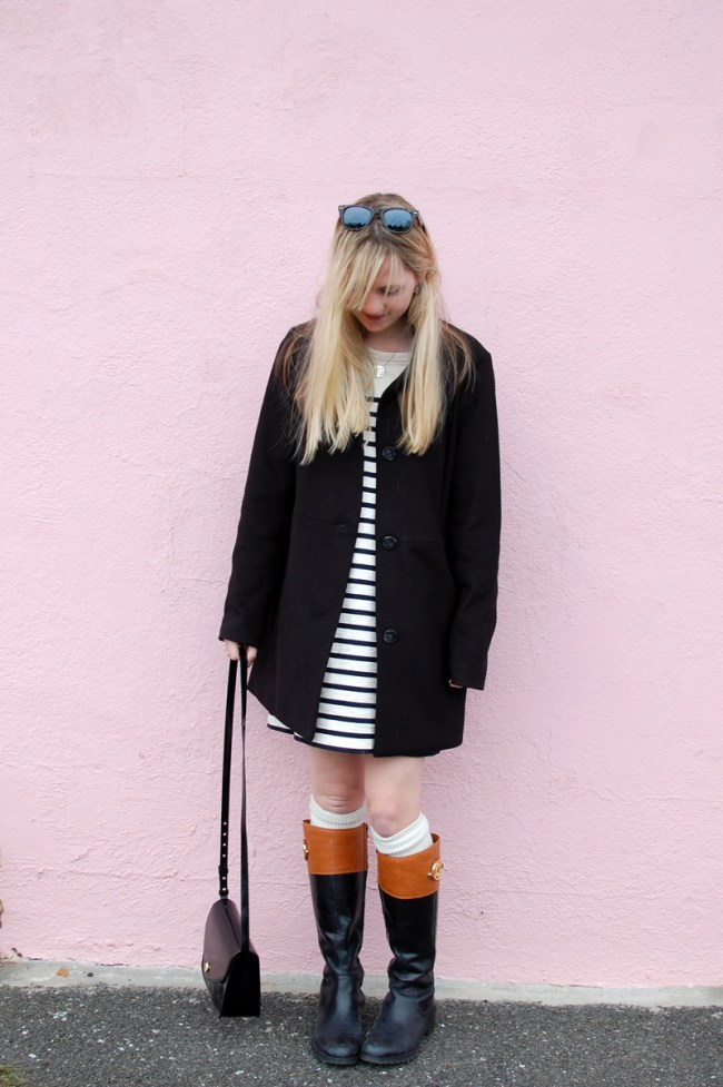 Madewell et Sezene Striped Dress