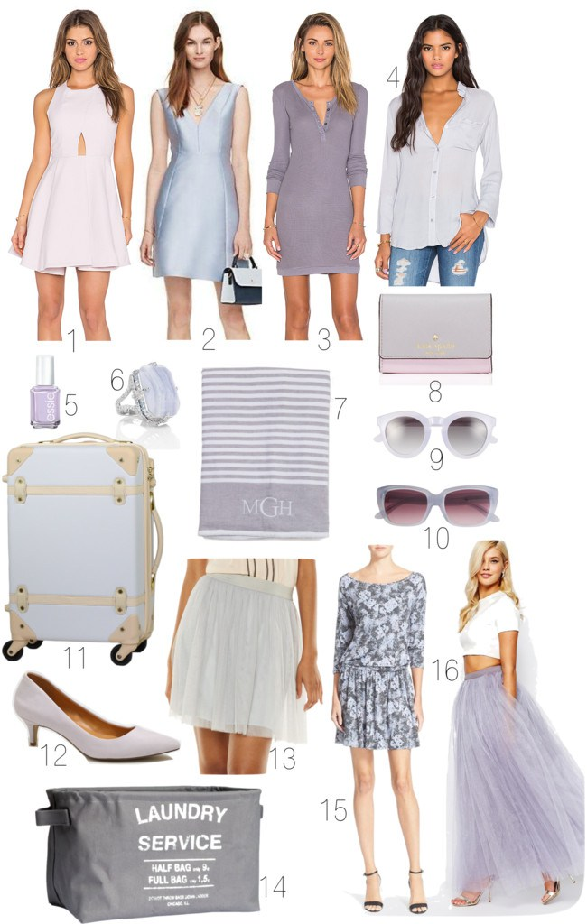 Lilac Gray Tulle Skirts