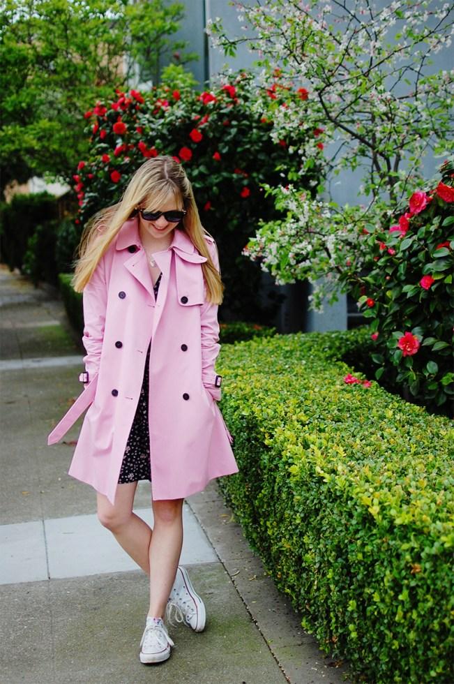 Jack Wills Pink Rain Coat