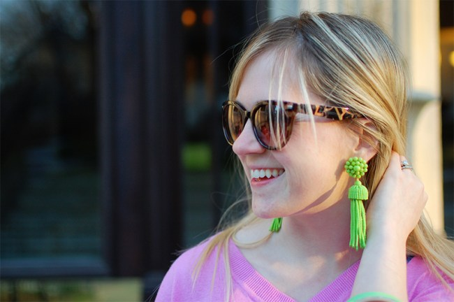 Lisi Lercch Green Tassel Earrings Sale