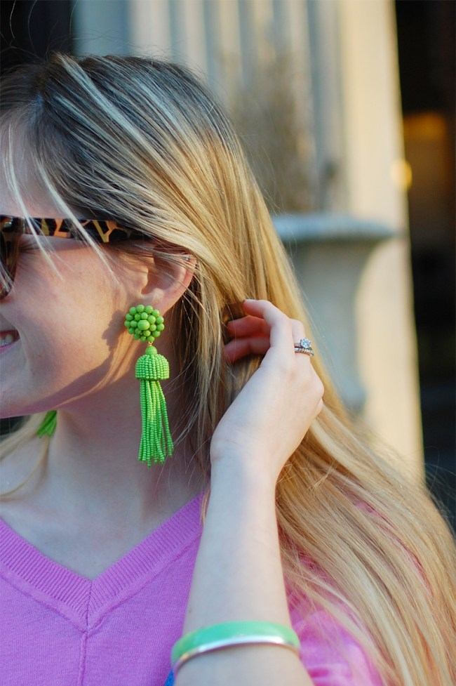 Lisi Lerch Kiwi Tassel Earrings