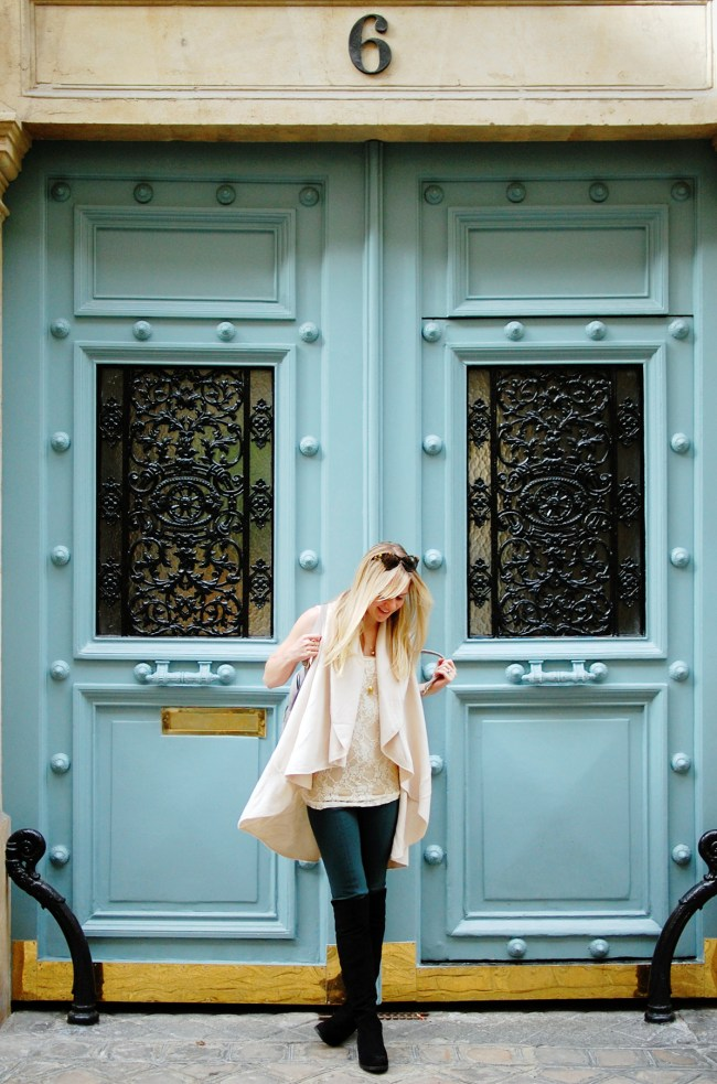 paris teal door