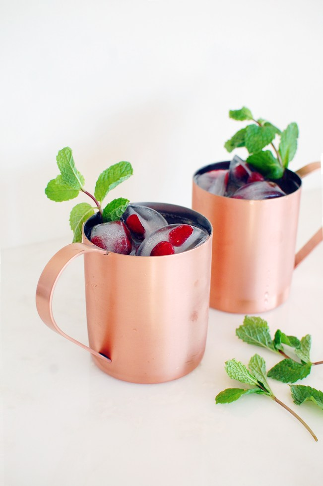 holiday christmas moscow mule recipe