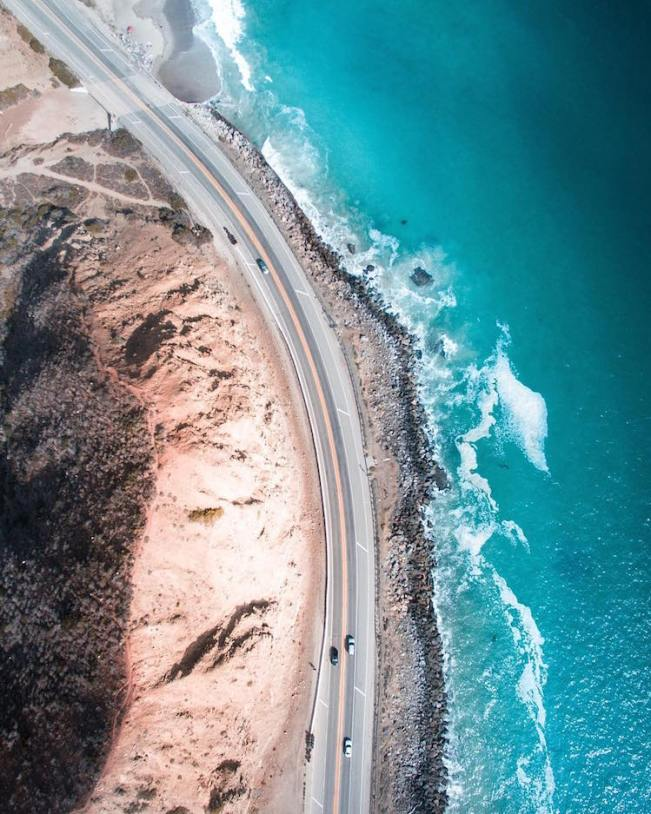 Aerial California Road Trip Pacific Coast Highway Photo by Gabriel Scanu