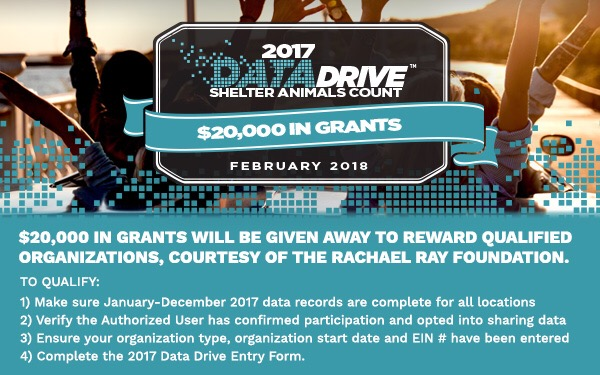 $20,000 in grants for your animal organization\u0027s 2017 data - sac shelter