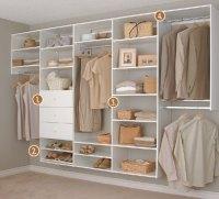Wall-mounted shelving system | Custom Closet Organizers ...