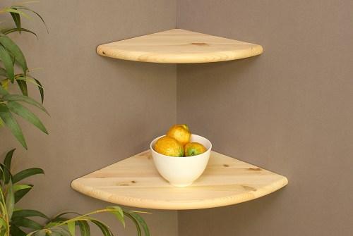 Medium Of Floating Corner Shelf Wood