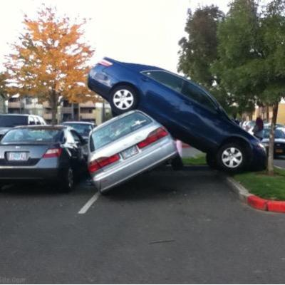 I mean, it's not like I parked like this...