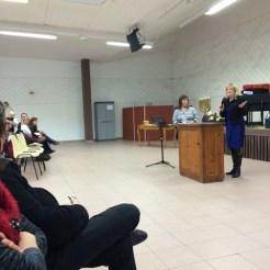 Christi speaking in St. Laurent Dupont France