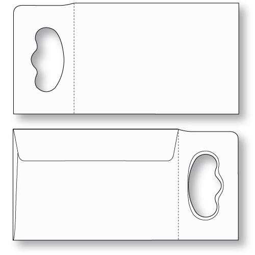 Door Knob Hanger Envelope (Super Size) Unprinted Sheppard Envelope