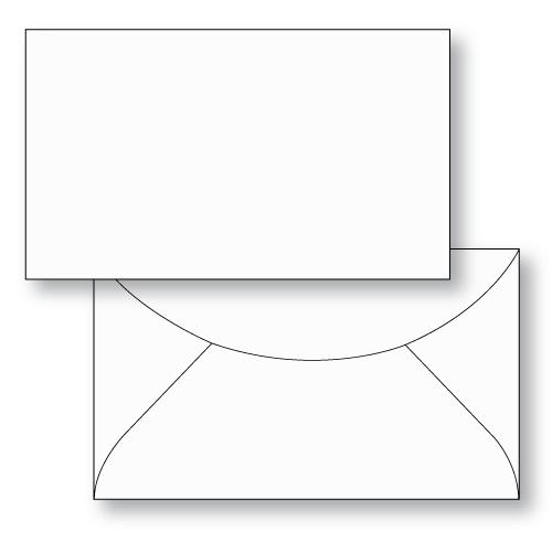 Gift Card Envelope Style F Unprinted Sheppard Envelope
