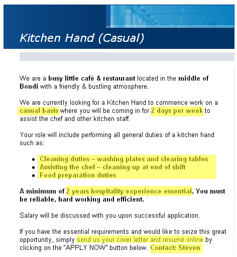 Kitchen Staff Cover Letter Minimfagencyco - Resume examples for kitchen hand