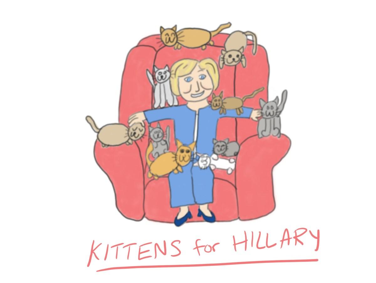 Kittens for Hillary!