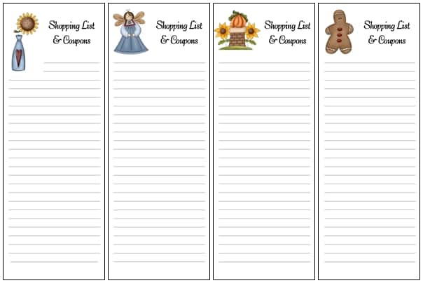 New Shopping List Envelopes Added! - Sheri Graham Helping you live