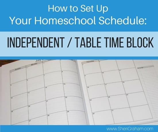 How to Set Up Your Homeschool Schedule (Part 3 of 4) - Independent