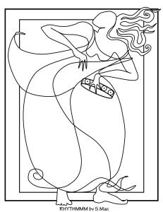 S.Mac's Abstract Coloring Page, Rythmmm