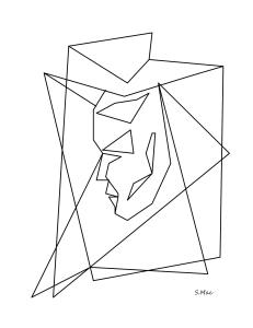 S.Mac's Abstract Coloring Page, Floating Face