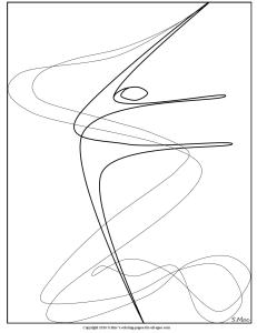 S.Mac's Abstract Coloring Page, Ribbon Dance