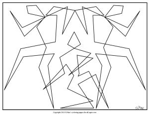 S.Mac's Abstract Trio Coloring Page