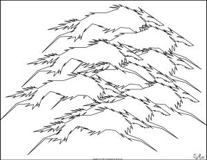 S.Mac's Abstract Coloring Page, Wolf Pack