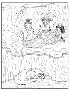 S.Mac's Pixie Hunting Party Coloring Page