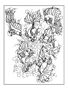 S.Mac's Funny Fish Coloring Page, Fishy Fun