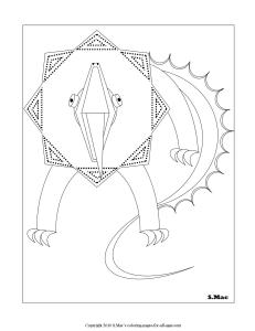 S.Mac's Geo Lizard Coloring Page