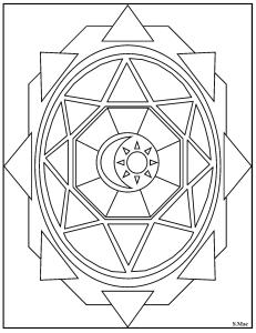 S.Mac's Geometric Coloring Page, Shield