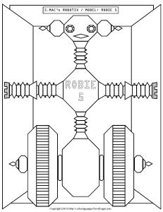 S.Mac's Robot Coloring Page, Robie 5