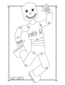 S.Mac's Robot Coloring Page, Robie 12