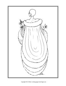 S.Mac's Art Deco Coloring Page, Lady with Compact