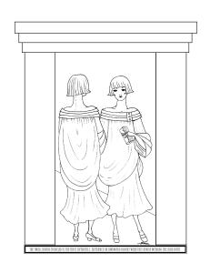 S.Mac's Art Deco Coloring Page, Twins