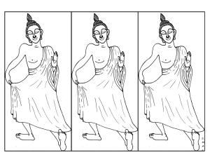 S.Mac's Dancing Buddha 2 Coloring Page