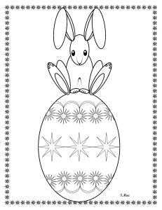 S.Mac's Hop on Top Easter Egg Coloring Page