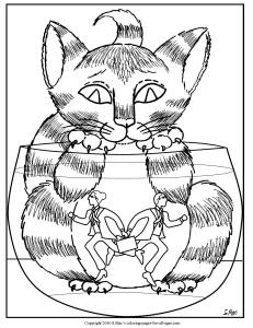 S.Mac's Surrealistic Coloring Page, Living in a Fishbowl