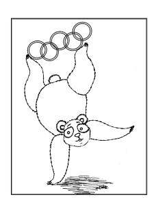 S.Mac's Pop Art Panda 3 Coloring Page
