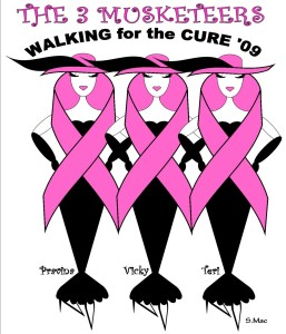 Design for Walk for the Cure T-shirts