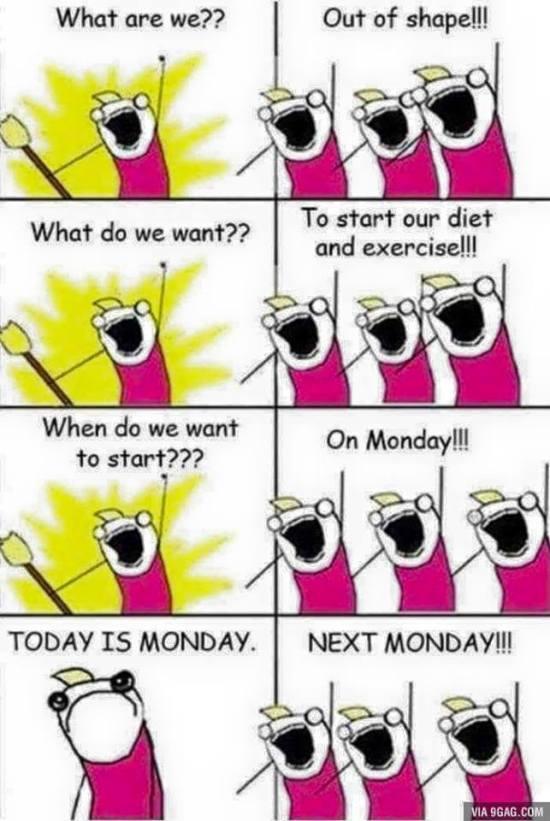 減肥... 下星期