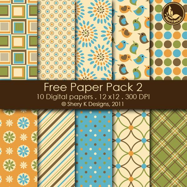 Free Digital Paper Pack 2 \u2013 Shery K Designs